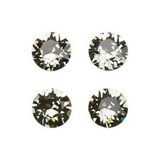 Swarovski 1088 Crystal Chatons Black Diamond Foil Back 8mm Pack of 4 (E96/9)