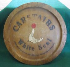 "Vintage 12"" Carstairs White Seal Blended Whiskey Classic Wooden Bar Tray"