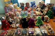 Ty Lot of 56 Retired Bears - Teenies, Beanies, Buddies and Pillows