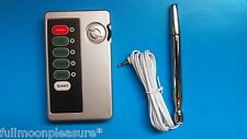 ELECTROSEX ESTIM TENS ENLARGEMENT TONING SET WITH BI POLAR URETHRAL AND UNIT,UK!