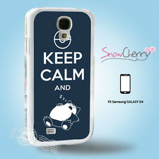 Samsung Galaxy S4  Case Cover Pokemon Keep Calm And Sleep KS4004