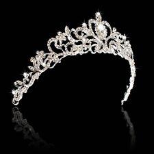 Couronne Strass Mariage Mariee Soirée Bijoux Cheveux Diadème Cristal Brillant