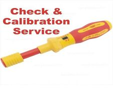 Check and Calibration Service: Draper Torque VDE Screwdriver 81762 Ergo Plus