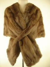 womens Vtg brown genuine mink fur stole wrap jacket cape bolero princess shrug