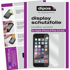2x Apple iPhone 6S Plus / 6 S+ Schutzfolie klar Displayschutzfolie Folie dipos