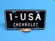 CHEVROLET 1-USA ALUMINUM LICENSE PLATE EMBOSSED CAR TAG MADE IN USA
