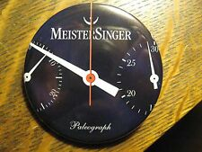 MeisterSinger Paleograph German Wrist Watch Advertisement Pocket Lipstick Mirror