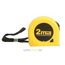 New 2M x 13mm Sewing Tailor Measuring Steel Ruler Retractable Roller Metric Tape