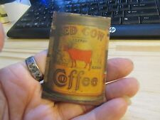 REFRIGERATOR MAGNET Metal Red Cow Coffee