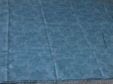 Duck egg blue floral flowers leaves remnant craft fabric sewing piece 45x130cm