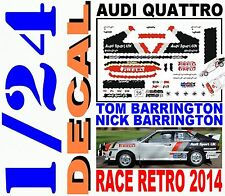 DECAL KIT 1/24 AUDI QUATTRO TOM BARRINGTON RACE RETRO 2014 (05)