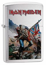 Zippo Windproof Lighter With Iron Maiden Logo and Design, 29432, New In Box