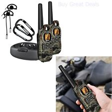 Long Range Walkie Talkie Camo Radio 37 Mile 2 Two Way Hunting Outdoor Travel FRS