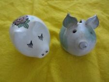 "3"" POTTERY and CHINA PIGS needing a new home 1 x MONEY BOX 1 x POMANDER"
