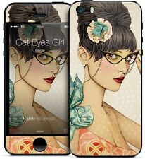 Gelaskin Gelaskins iPhone 5 5S Elodie Cat Eyes Girl