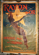 Vintage RAYON D' OR Poster 44 x 60 inch  Advertising Nude 1895 DuPont SHIPS FREE