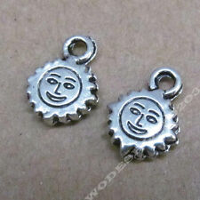 30x Tibetan Silver Smiling Sun Pendant Charms Beads Jewellery Accessories /202