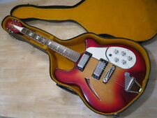 Super Nice Vintage 60's/70's  MIJ Cats Eye Electric Guitar w/ Org Case -  Cool!