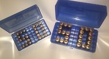 AA & AAA Battery Plastic Storage Containers Blue HOLDS 50 BATTERIES EA. SURVIVAL