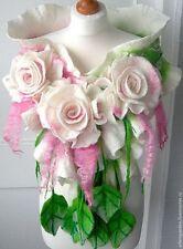 felted woman ART scarf  ,shawl-SPRING  BLOSSOM-