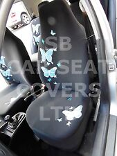 i - SEMI FIT A CITROEN C4 CAR, SEAT COVERS, HIGH BACK, BLUE BUTTERFLY
