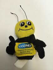 RARE New NASONEX Nasal Spray Drug Rep Bumblebee Bee Finger Puppet Plush Toy Ad