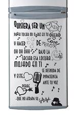 """Vinilo decorativo nevera"""" QUISIERA SER UN PEZ"""" stickers pegatinas"""