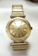 Vintage 14k Longines Watch w/ Faceted Crystal  ~Runs~  17 Jewels