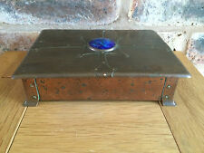 Superb 1905 Art Nouveau Arts & Crafts A.E. Jones Copper Trinket Jewellery Box