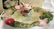 Fitz & Floyd French Market Pig Divided Serving Platter Tray NEW tiny defect  #2