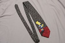 Vtg The Simpsons Bart Simpson I will not waste chalk TIE '96 Balancine Hot Cakes