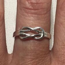SOLID 925 Sterling Silver Infinity Love Knot Ring Sz 7 (UK O)