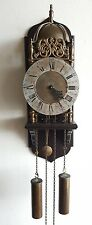 LANTERN Wall Clock Vintage Hermle Chain Driven Pendulum Wood Wall Mount English