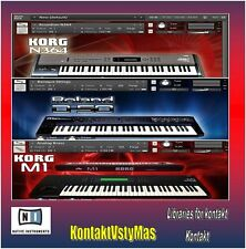 Korg Roland Yamaha for kontakt. Over 1000 sounds
