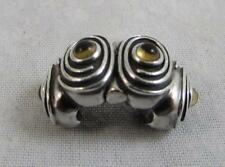 Genuine Pandora 790560CI Hypnotize Spiral Citrine Sterling Clip Charm