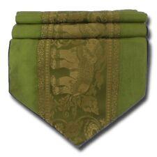 TS003 grün Tischläufer Tischdeko Tischdecke 200x30 cm Thai Silk Elefanten edel