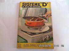 SYSTEME D N°146 FEVRIER 1958 FOUR SUR RECHAUD COFFRE A OUTILS TABLE JARDIN   J72