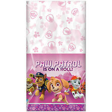 PAW PATROL GIRL PLASTIC TABLE COVER ~ Birthday Party Supplies Decorations Cloth