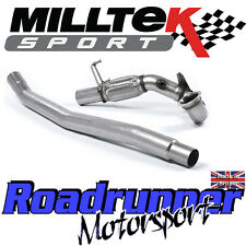 "Milltek Golf GTi MK7 & Clubsport 3"" Decat Downpipe Exhaust SSXVW395 - Fits To OE"