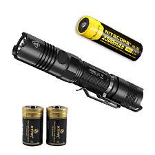 Nitecore P12GT Flashlight w/ NL183 Battery & 2 Premium CR123A Batteries