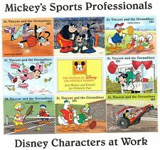 BLOC TIMBRES NEUFS WALT DISNEY MICKEY SPORTS : ST VINCENT ET GRENADINES