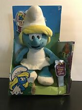 The Smurfs Plush Toy Smurfette Pretty Girl Smurf Soft Doll Stuffed plus DVD