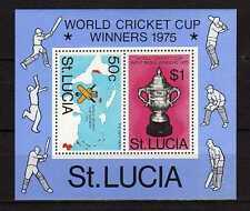 15578) ST. LUCIA 1975 MNH** Nuovi** World Cricket Cup - S/S