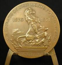 Medaille Aux enfants de Lyon morts pour la France 1893 d'ap Pagny sc Rivet Medal