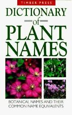 Dictionary of Plant Names: Botanical Names and Their Common Name Equiv-ExLibrary