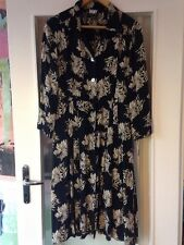 DKNY vintage donna karan new york rayon flower print midi dress uk14