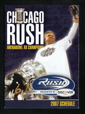 Mike Ditka--2007 Chicago Rush Schedule
