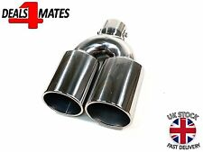 EXHAUST TWIN SPORT MUFFLER TRIM PIPE CHROME FOR GOLF VW GTI MK1 MK2 MK3 MK4 MK5