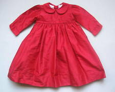 STRASBURG Girls 24 Mo Red Silk Dress EUC Christmas Holiday Portrait