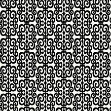 Wallpaper New Retro Mid Century Modern Black and White Scroll